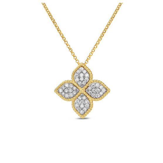 Roberto Coin Princess Flower Diamond Necklace 18K