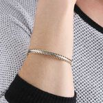 Twist Two-Tone Bangle Bracelet 14K