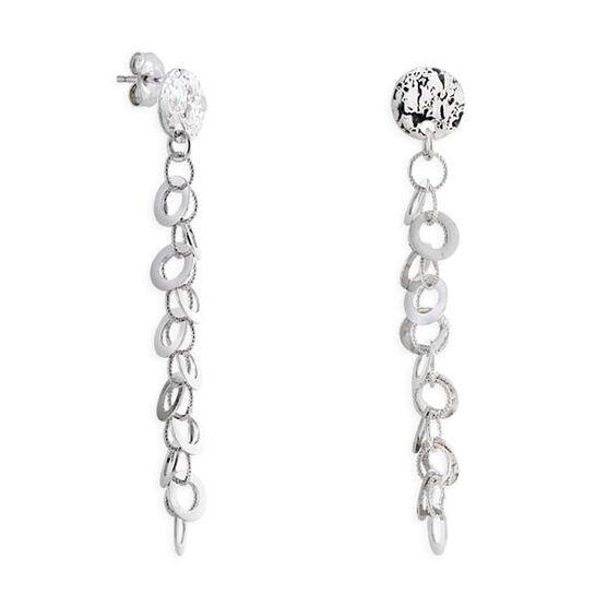 Chain Dangle Earrings 14K