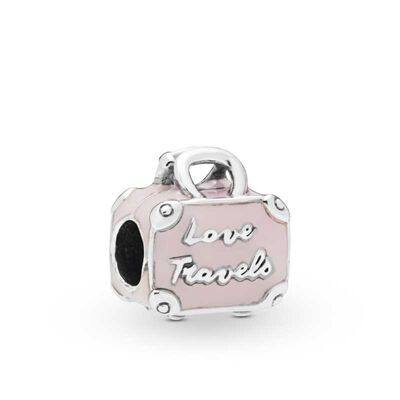 Pandora Pink Travel Bag Enamel Charm