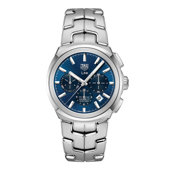 TAG Heuer Link Caliber 17 Automatic Chronograph Blue Dial Watch