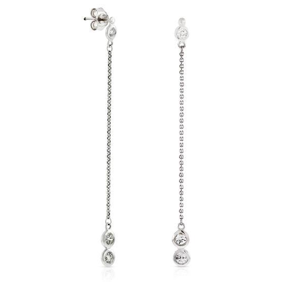 Diamond Drop Earrings 14K