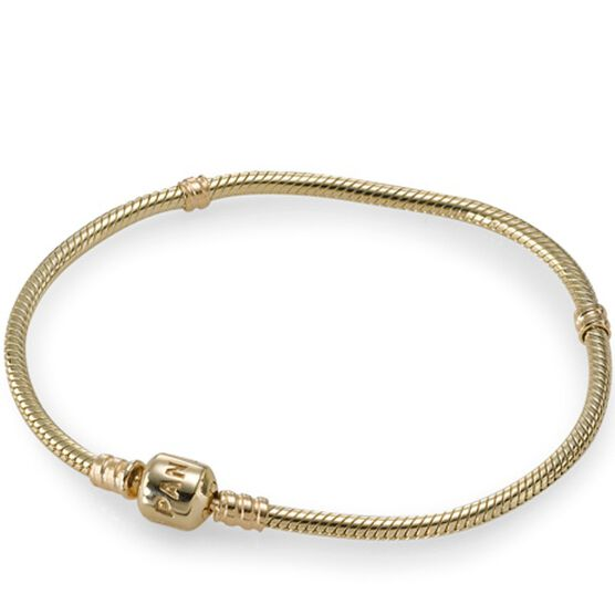 "Pandora Clasp Bracelet 14K, 7.5"""
