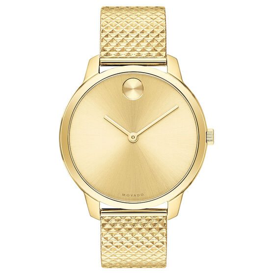 Movado Bold Museum Gold-Tone Watch