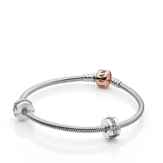PANDORA Rose™ Iconic Bracelet Set with 2 Clips & 1 Charm