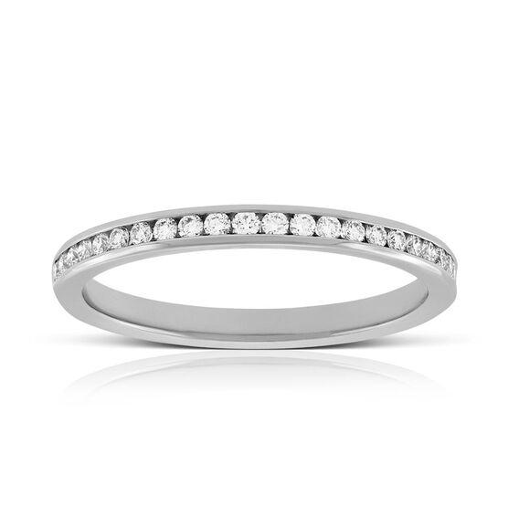 Channel Set Diamond Ring in Platinum, 1/4 ctw.