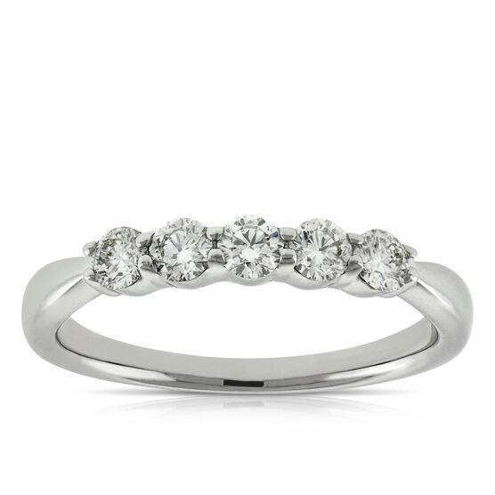 Diamond 5-Stone Band 14K, 1/2 ctw.