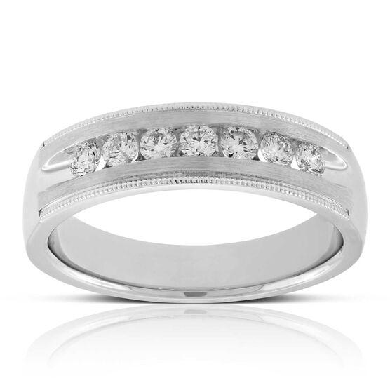Men's Diamond Wedding Band 14K