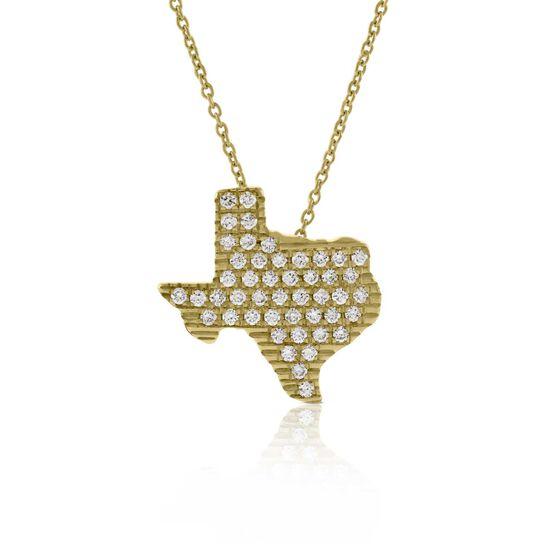 Roberto Coin Tiny Treasures Diamond Texas Necklace 18K