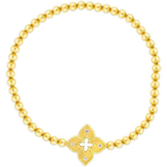 Roberto Coin Venetian Princess Flower Small Diamond Bracelet