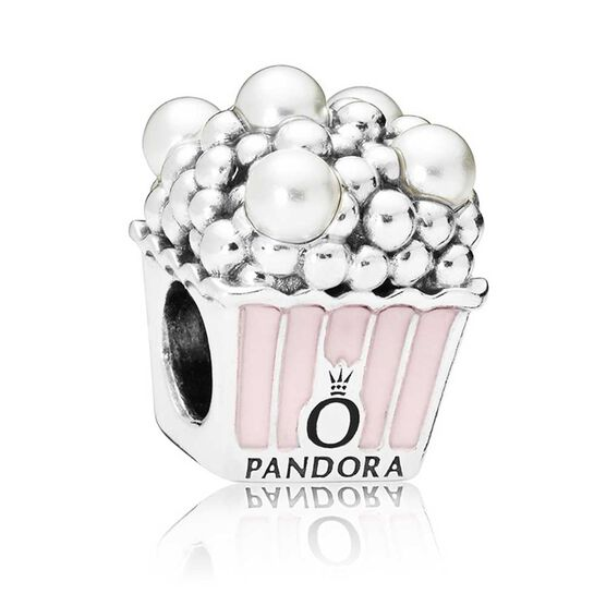 Pandora Delicious Popcorn Enamel & Crystal Charm