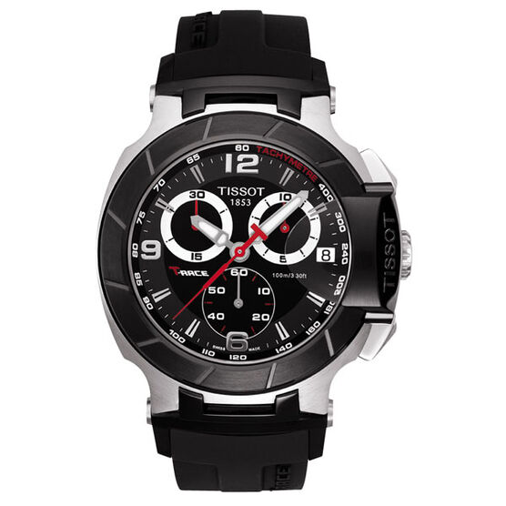 Tissot T-Race Chronograph Black PVD Quartz Watch, 45.3mm
