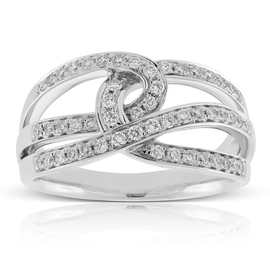 Crossover Diamond Ring 14K