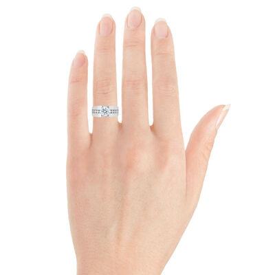 Channel Set Diamond Semi-Mount Ring 14K