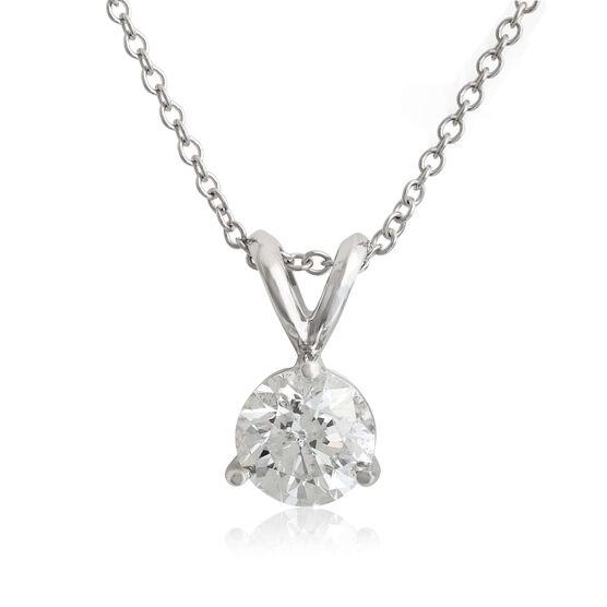 Diamond Solitaire Pendant 14K, 3/4 ct.
