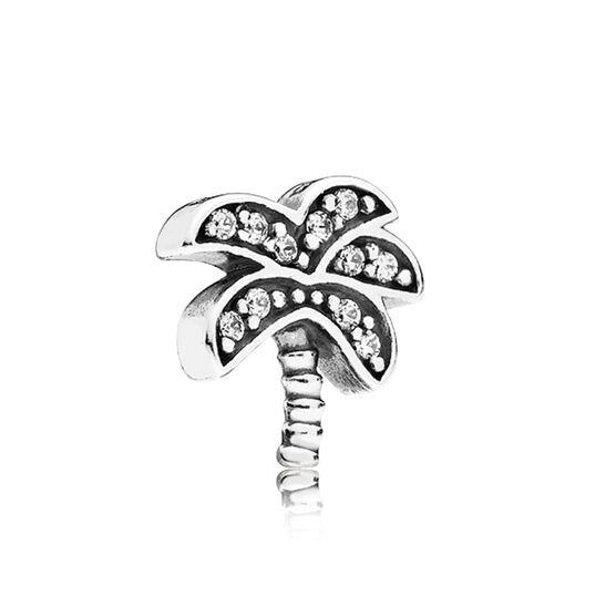 PANDORA Petite Locket CZ Palm Tree Charm
