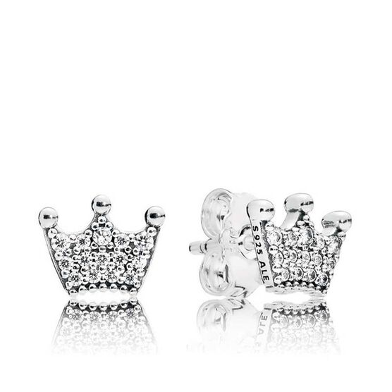 Pandora Enchanted Crowns CZ Stud Earrings