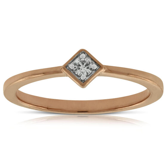 Rose Gold Diamond Ring 14K