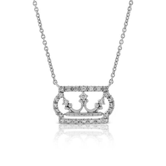 Diamond Crown Necklace 14K