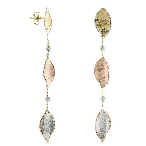 Toscano Leaf Dangle Earrings 14K