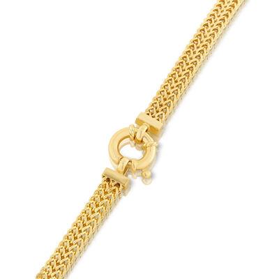Toscano Four-Sided 2-Row Franco Chain Bracelet 14K