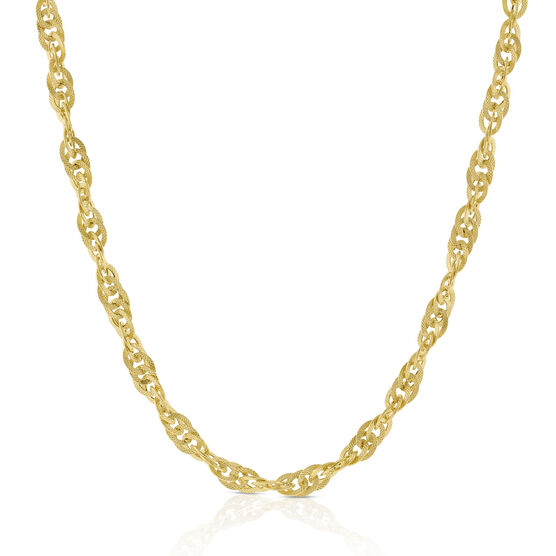 Toscano Interlocking Curb Chain 14K, 18""