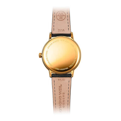 Raymond Weil Toccatta Classic White Dial Gold PVD Date Watch, 39mm