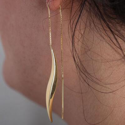 Thick Twist Threader Earrings 14K