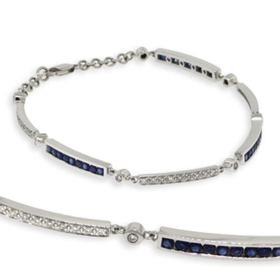 Sapphire & Diamond Bracelet 14K