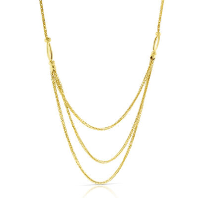 "Triple Wheat Chain 20"" 14K"