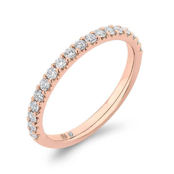 Bella Ponte Rose Gold Diamond Band 14K, 1/4 ctw.