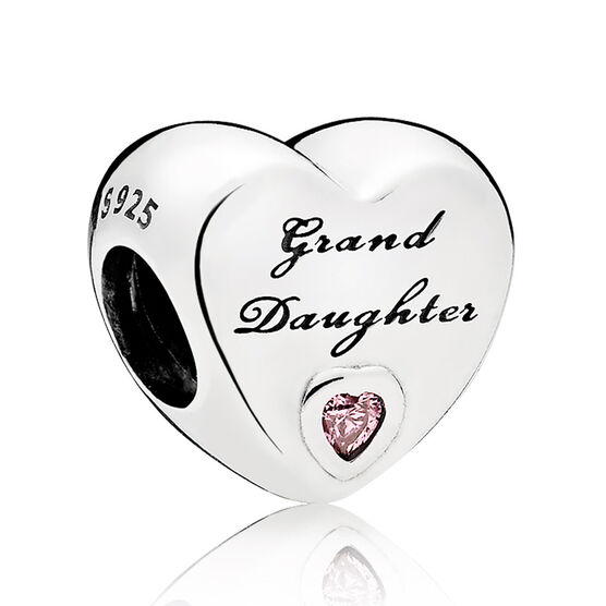 Pandora Pink CZ Granddaughter's Love Charm