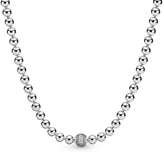 Pandora Purely Pandora Beads & Pavé CZ Necklace