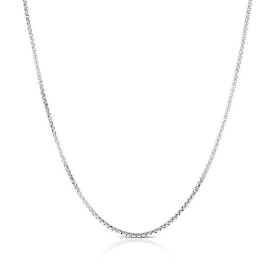 Toscano Half Round Diamond Cut Box Chain 14K, 24""