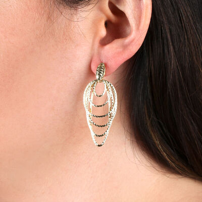 Toscano Oval Wire Earrings 14K