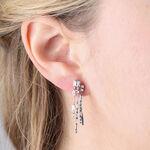 ICE FALL Baguette Cut Diamond Triple Dangle Earrings 14K