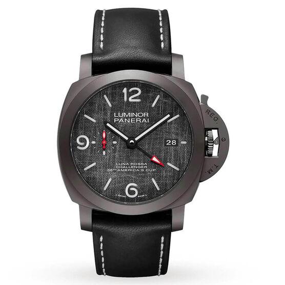 PANERAI Luminor Luna Rossa GMT Titanium DLC Watch, 44mm