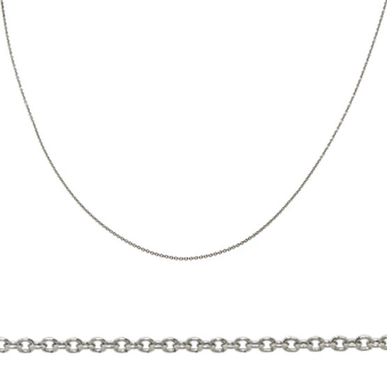 Rolo Chain in Platinum, 18""