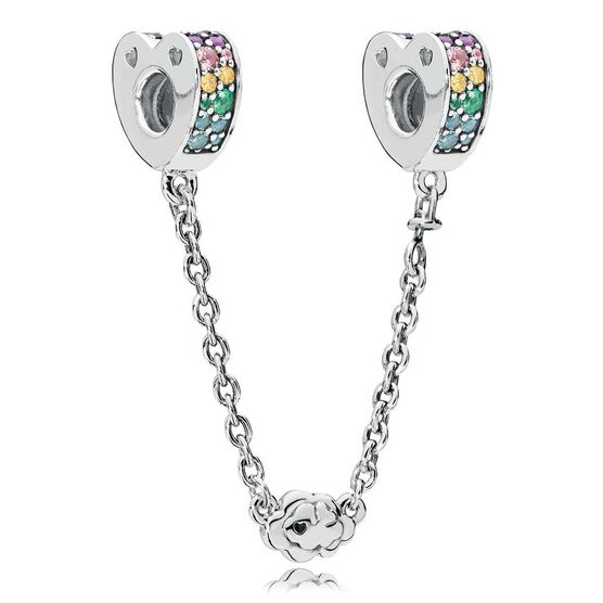 Pandora Arcs of Love CZ & Crystals Safety Chain