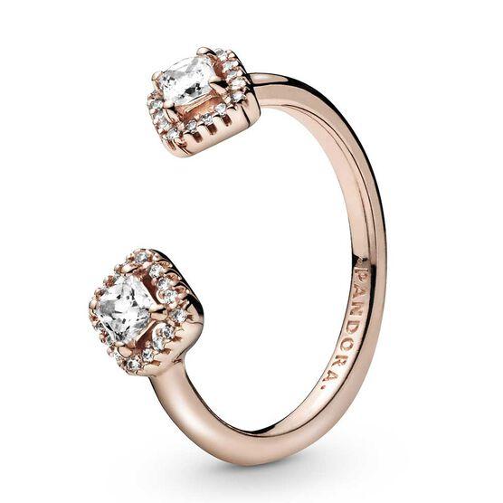 Pandora Rose™ Square Sparkle Open CZ Ring