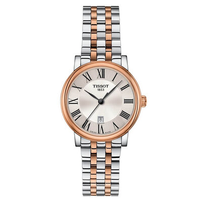 Tissot Carson Premium Lady Rose PVD Silver Dial Watch, 30mm