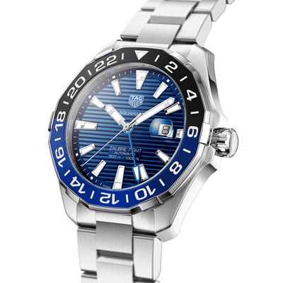 TAG Heuer Aquaracer Calibre 7 Batman Bezel GMT Watch, 43mm