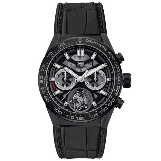 TAG Heuer Carrera Heuer 02 COSC Ceramic Chronograph Watch, 45mm