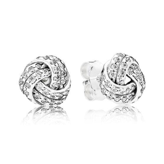 PANDORA Sparkling Love CZ Knot Earrings