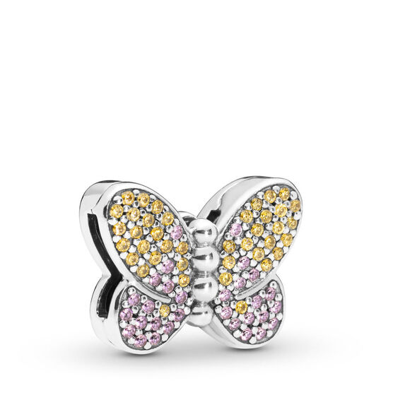 Pandora Reflexions Bedazzling Butterfly CZ & Crystal Clip Charm