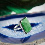 Lisa Bridge Chalcedony & Black Sapphire Ring