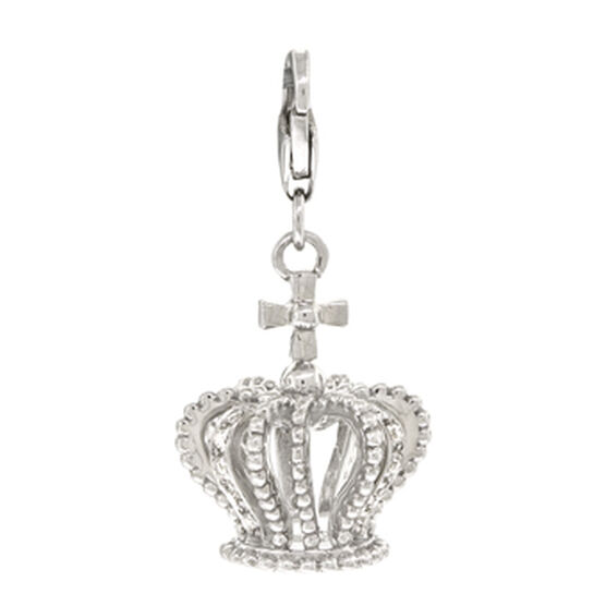 Diamond Crown Charm / Pendant 14K