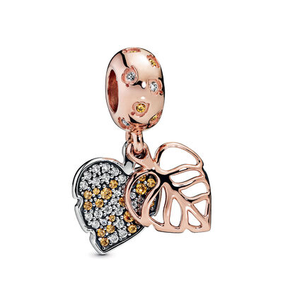 Pandora Rose™ Pandora Wonderland Sparkling Leaves CZ Dangle Charm