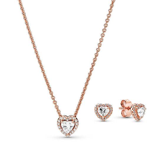 Pandora Rose™ Sparkling Elevated Heart Jewelry CZ Gift Set