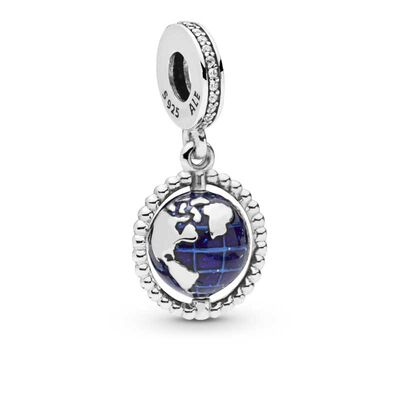 Pandora Spinning Globe Dangle CZ Charm